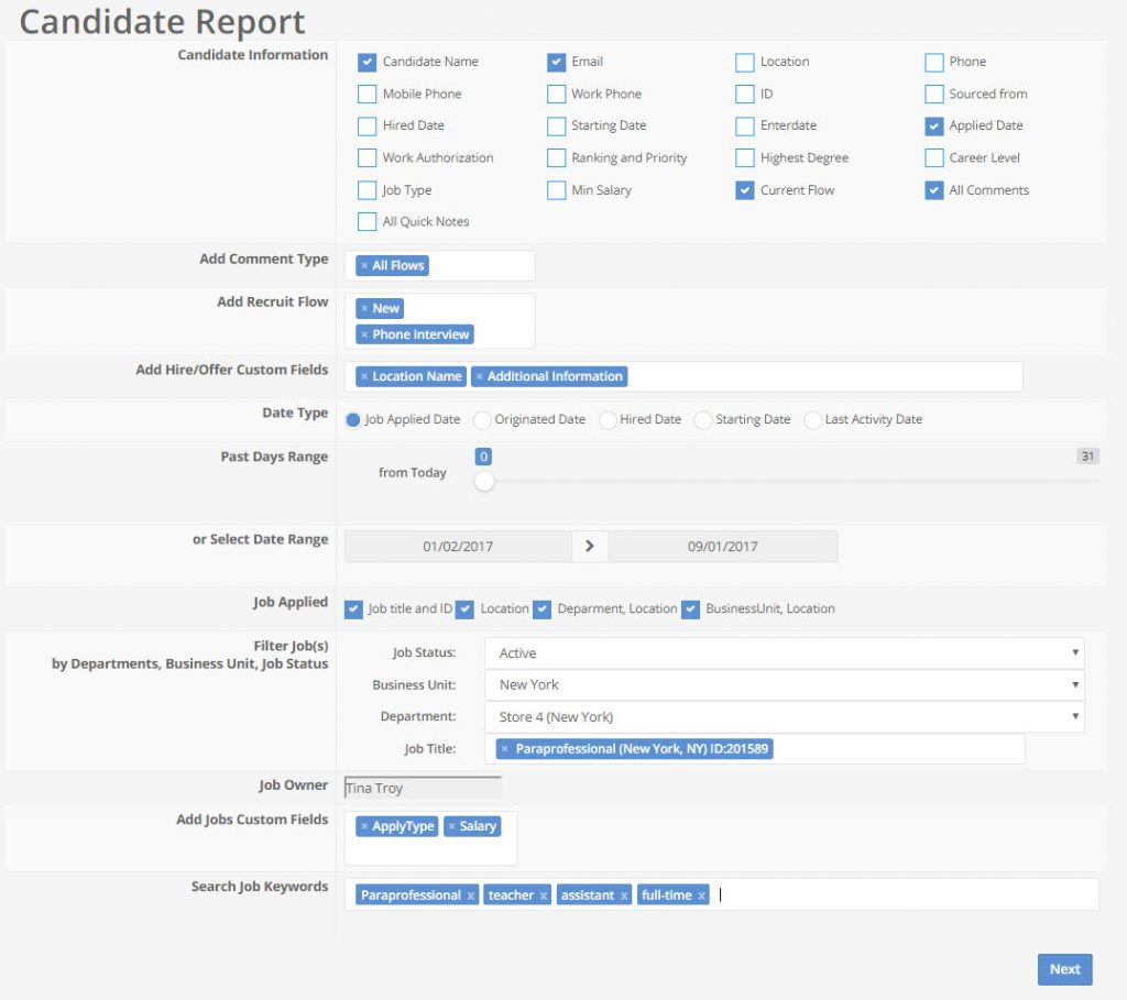 candidate report